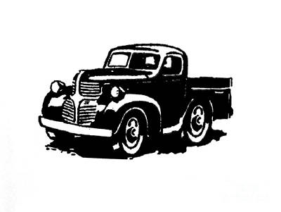 Dodge Truckin Art Print