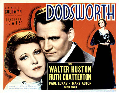 Posth Photograph - Dodsworth, Ruth Chatterton, Walter by Everett