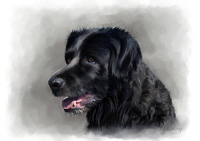 Painting - Dog Portrait by Michael Greenaway