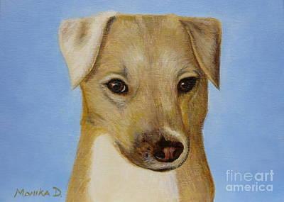 Ontario Portrait Artist Painting - Dog Portrait by Monika Shepherdson