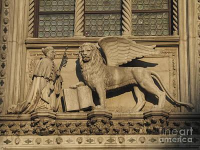 Venise Photograph - Doge And Lion. Venice by Bernard Jaubert