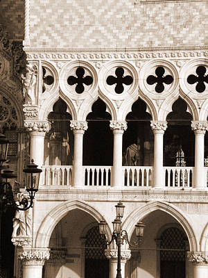 Photograph - Doges Palace Columns by Donna Corless