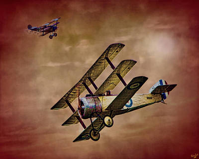 Photograph - Dogfight 1918 by Chris Lord