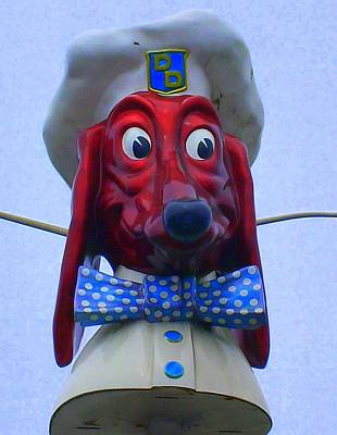 Signe Painting - Doggie Diner by Randall Weidner