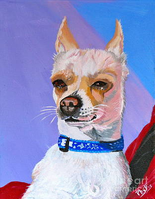 Painting - Doggie Know It All by Phyllis Kaltenbach
