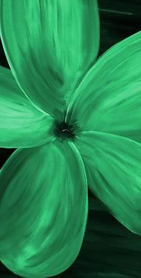 Abstract Animalia - Dogwood Bloom Green by Mark Moore