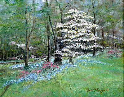 Painting - Dogwood In Springtime by Max Mckenzie