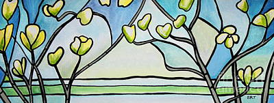Painting - Dogwood Stained Glass I by Elizabeth Robinette Tyndall