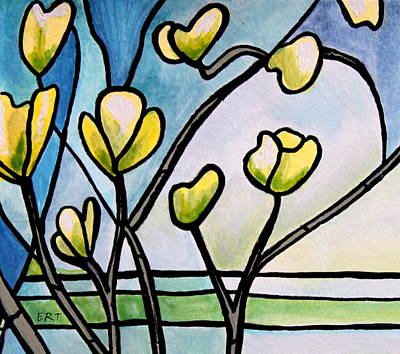 Painting - Dogwood Stained Glass II by Elizabeth Robinette Tyndall