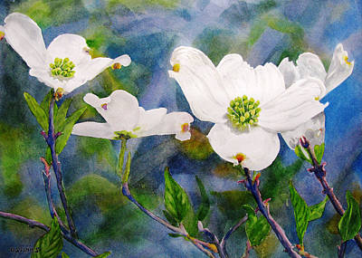 Painting - Dogwoods by Debra Spinks
