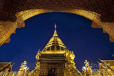 Lord Buddha Photograph - Doi Suthep Temple by Anek Suwannaphoom