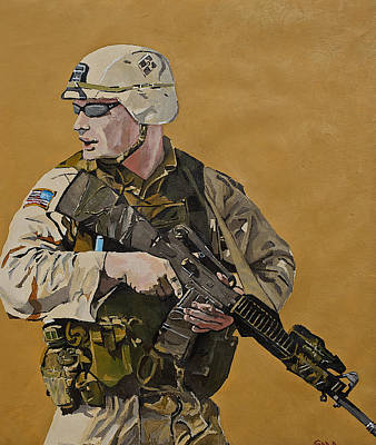 Iraq Painting - Doing His Duty by Terry Gill
