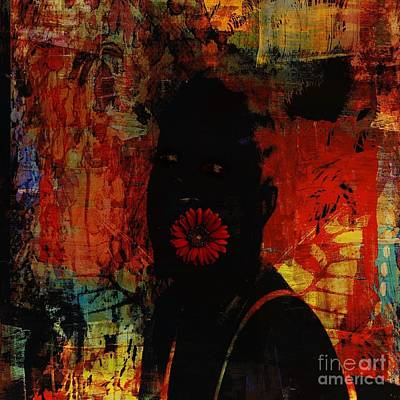 Abstract Movement Mixed Media - Doing Like Flowers Do by Fania Simon