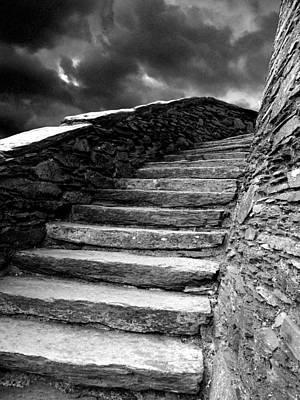 Dolbadarn Castle Steps Art Print by Duncan Rowe