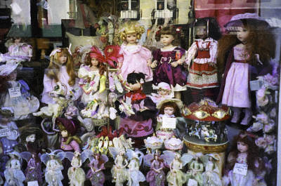 Photograph - Doll Boutique Window by Donna L Munro