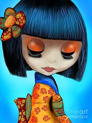 Doll From The East Art Print
