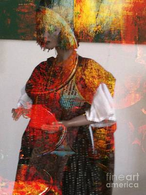 Doll In Paint Art Print by Fania Simon
