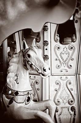 Dolly The Carousel Horse Art Print by Silvia Ganora