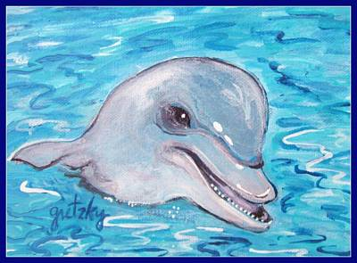 Dolphin 2 Art Print by Paintings by Gretzky