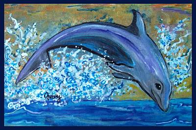 Fish Painting - Dolphin 3 by Paintings by Gretzky