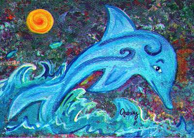 Fish Painting - Dolphin  by Paintings by Gretzky