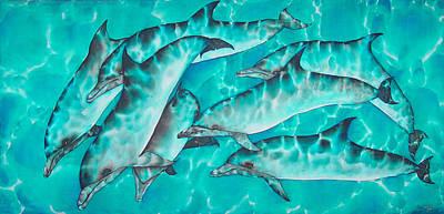 Porpoise Painting - Dolphin Pod by Daniel Jean-Baptiste