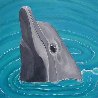 Bottle-nose Painting - Dolphin Smile by Brandy Gerber