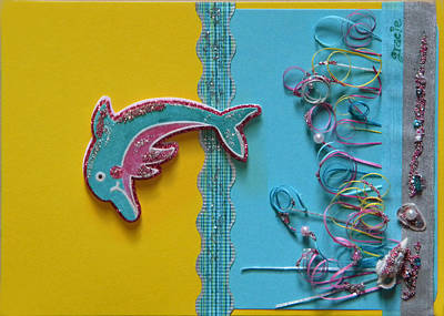 Gracie Mixed Media - Dolphin's Tale by Gracies Creations