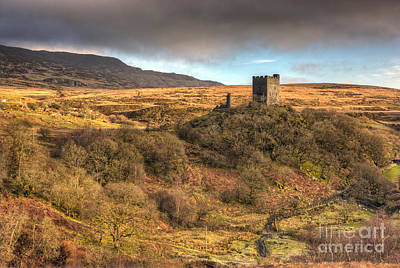 Movies Star Paintings - Dolwyddelan castle and Moel Siabod by Rory Trappe