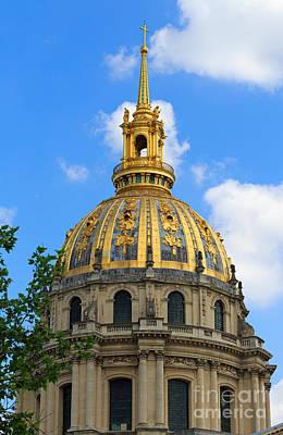 Invalides Photograph - Dome Church Paris by Louise Heusinkveld