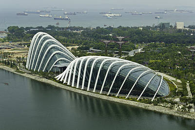 Tourist Attraction Photograph - Domes Inside The Gardens By The Bay In Singapore by Ashish Agarwal