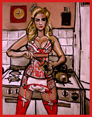 Painting - Domestic Goddess by Adam Kissel