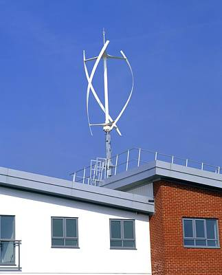 Milton Keynes Photograph - Domestic Micro Wind Turbine by Martin Bond