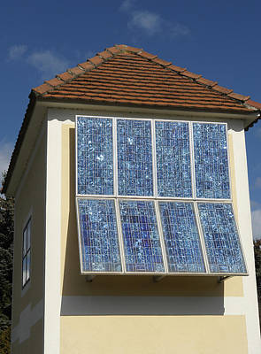 Domestic Solar Panel Art Print by Friedrich Saurer