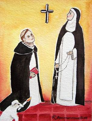 St. Catherine Of Siena Painting - Dominic And Catherine by Regina Ammerman