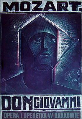 Mixed Media - Don Giovanni by Franciszek Starowieyski