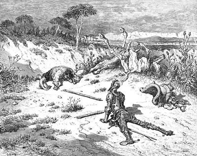 Don Quixote & Sancho Panza Art Print