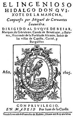 Don Quixote, Title Page Art Print