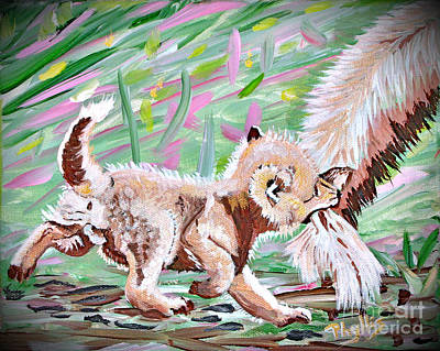 Painting - Don't Bite The Tail Of The One Who Feeds You by Phyllis Kaltenbach
