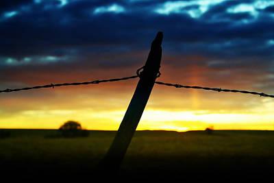 Barbed Wire Fences Digital Art - Don't Fence Me In by Ellen Heaverlo