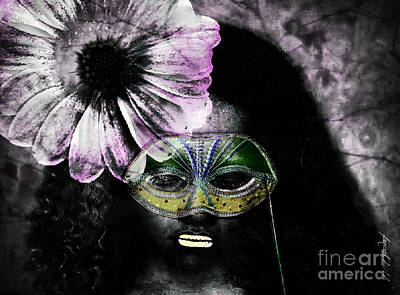 Faniart Africa America Mixed Media - Don't Look At Meee by Fania Simon