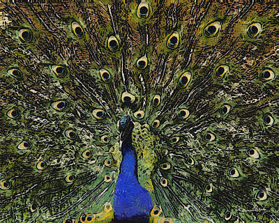 Peacock Digital Art - Dont Look Back by Ernie Echols