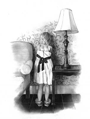 Sad Girl Drawing Drawing - Don't Talk To Me by Joyce Geleynse