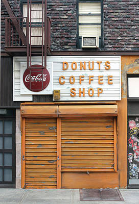 Commercial Archeology Sculpture - Donuts Coffee Shop - New York Store Front Sculpture by Randy Hage