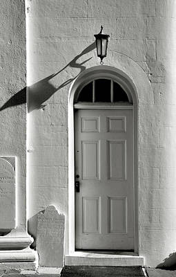 Door And Shadow Art Print by Steven Ainsworth
