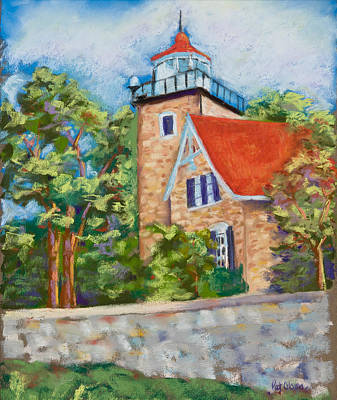 Door County Lighthouse Art Print by Pat Olson