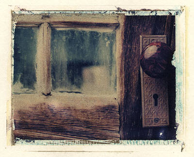 Photograph - Door Knob And Window by Joe  Palermo