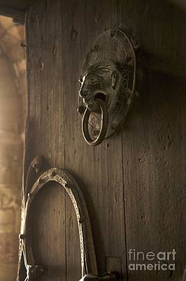 Door Knocker Of The Basilica Saint-julien. Brioude. Haute Loire. Auvergne. France. Art Print