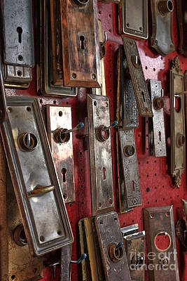 Door Lock Frames Art Print by David Bearden