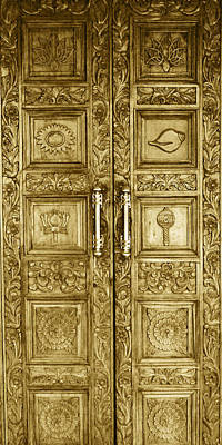 Ancient Photograph - Door Made Of Gold by Sumit Mehndiratta